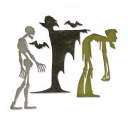 Sizzix Thinlits Die Set 4PK - Ghoulish by Tim Holtz