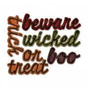 Sizzix Thinlits Die Set 12PK - Shadow Script Halloween by Tim Holtz