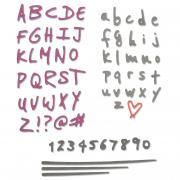 Sizzix Thinlits Die Set 4PK - Doodle Alphabet & Numbers
