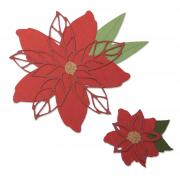 Sizzix Thinlits Die Set 8PK - Poinsettia