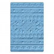 Sizzix 3-D Textured Impressions Embossing Folder - Folk Art Pattern