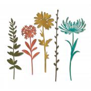 Sizzix Thinlits Die Set 5PK - Wildflower Stems #1 by Tim Holtz