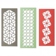 Sizzix Thinlits Die Set 3PK - Geo Trio