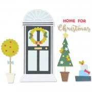 Sizzix Thinlits Die Set 15PK - Home for Christmas