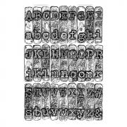 Sizzix 3-D Texture Fades Embossing Folder - Typewriter by Tim Holtz