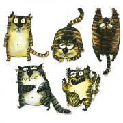 Sizzix Framelits Die Set 15PK - Snarky Cats by Tim Holtz