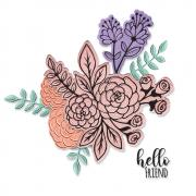 Floral bunch die set at Sizzix