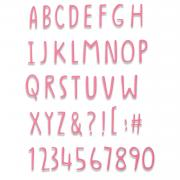 Sizzix Thinlits Die - Hand Drawn Alphabet