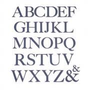 Sizzix Thinlits Die Set 28PK - Serif Alphabet
