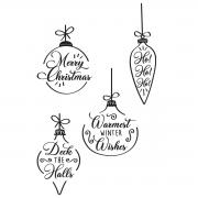 Sizzix Clear Stamps 4PK - Christmas Baubles