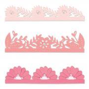 Sizzix Thinlits Die Set 3PK - Bold Floral Edges