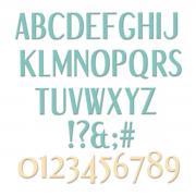 Sizzix Thinlits Die Set 62PK - Stylized Alphabet