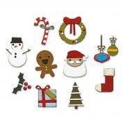 Sizzix Thinlits Die Set 11PK - Christmas Minis by Tim Holtz
