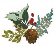 Sizzix Thinlits Die Set 6PK - Holiday Brushstroke #2 by Tim Holtz
