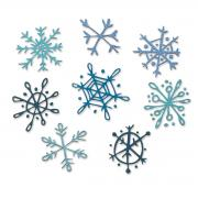 Sizzix Thinlits Die Set 8PK - Scribbly Snowflakes by Tim Holtz