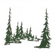 Sizzix Thinlits Die - Tall Pines by Tim Holtz