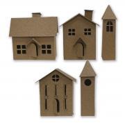 Sizzix Thinlits Die Set 21PK - Paper Village #2 by Tim Holtz