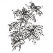 Sizzix 3-D Texture Fades Embossing Folder - Mini Poinsettia by Tim Holtz
