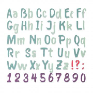 Sizzix Bold Brush Alphabet*