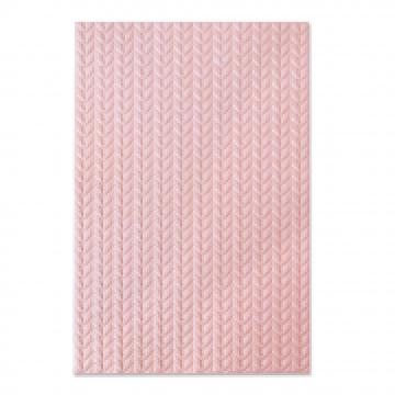 Sizzix 3D embossing folder Knitted*