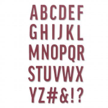 Sizzix Bold Alphabet