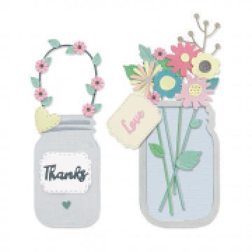 Sizzix Jar of Flowers *