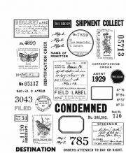 Stampers Anonymous Cling Mount Stamps - Field Notes by Tim Holtz