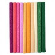 """Sizzix Surfacez - Crepe Paper, 12"""" x 24"""", Color Splash, 10 Sheets"""