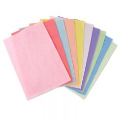 "Sizzix Surfacez - Felt, 8 1/4"" x 11 5/8"", 10 Pastel Colors, 10 Sheets"