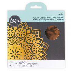 Sizzix Effectz - Decorative Foil Sheets, Gold, 10PK