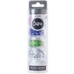 Sizzix Surfacez - Sequins & Beads, Pearlescent, 5PK