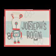 Robot Room Sign