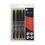 Manuscript Black Fine, Medium, Broad, Extra Broad Pen Set