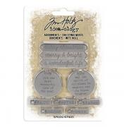 Idea-ology Adornments Christmas Words - Tim Holtz