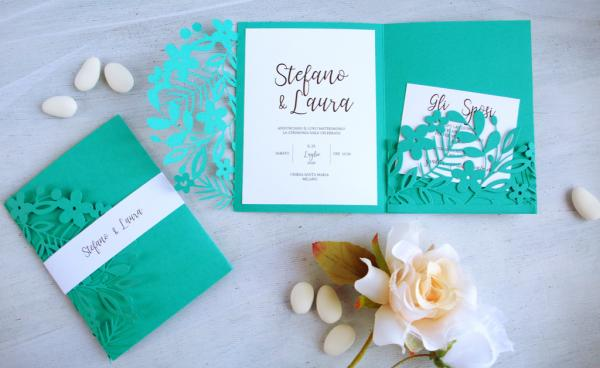 DIY Elegant Teal Wedding invitations - VIDEO