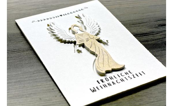 Christmas Card with Angel