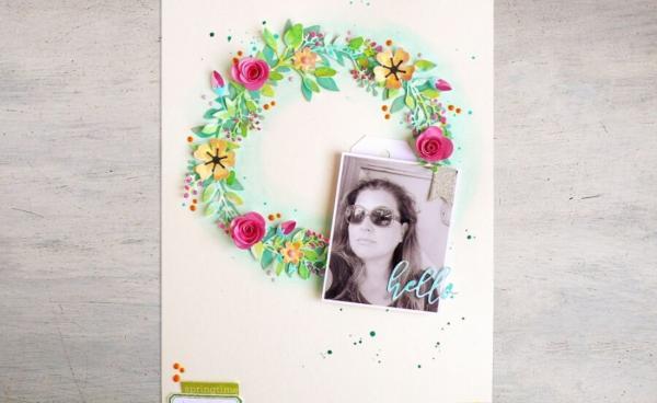Scrapbook Page Idea: Spring Wreath
