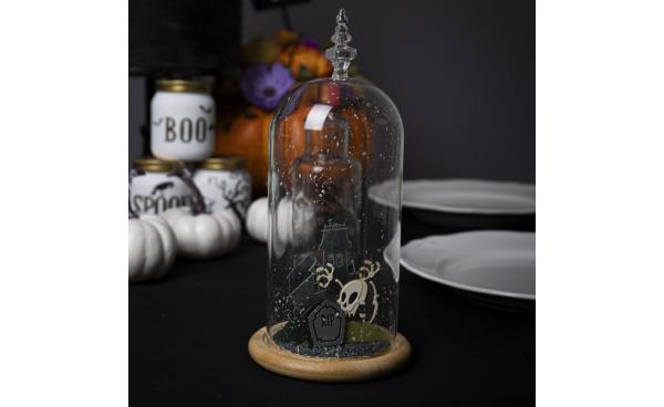 How to Make a Mr Bones Halloween Craft Dome Jar!
