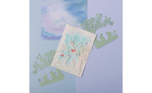 Easy watercolour spring card