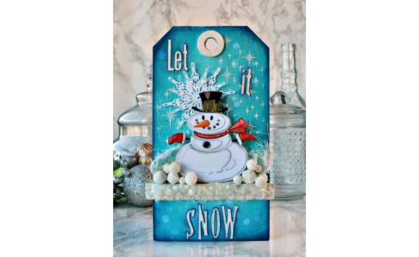 Mr Snowman Tag featuring Tim Holtz designs - by Daydreams In Paper