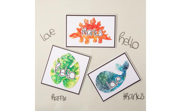 Adding Colourful Effects to Die Cuts Using Brusho's