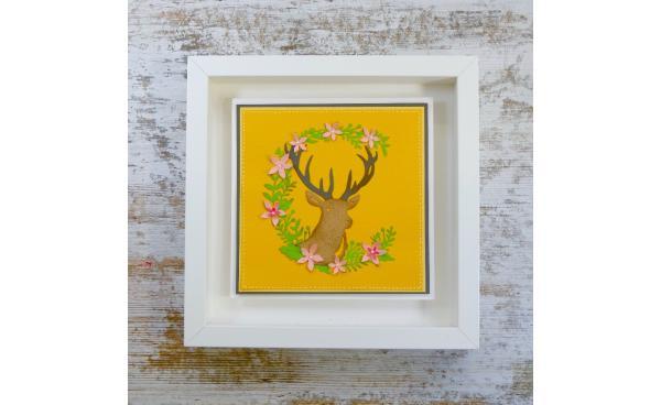 DIY Deer frame home decor