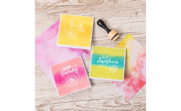Stamped Sentiment Cards