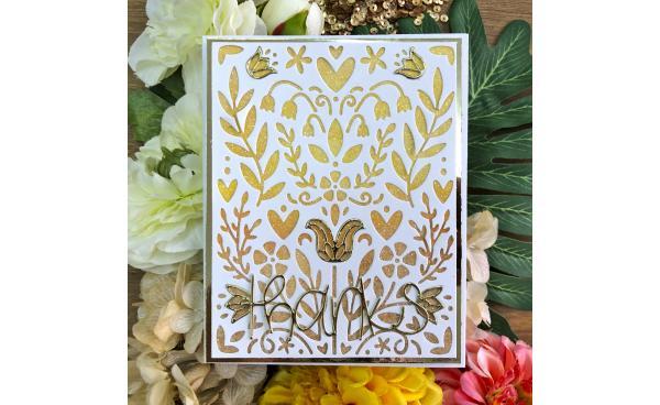 Shiny Folk Art Card