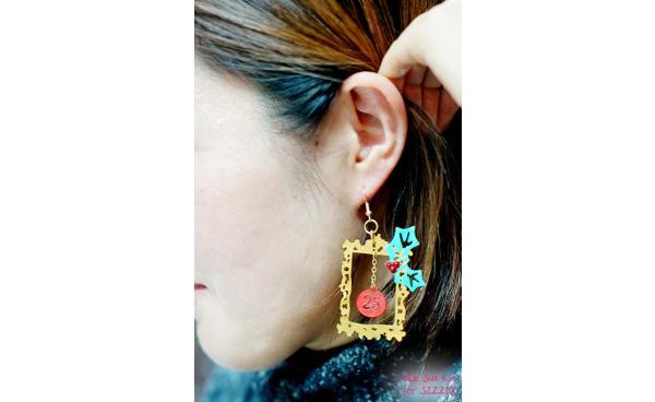 Christmas Shrink Plastic Earring