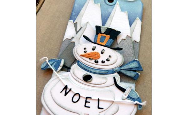 Mr. Snowman Gift Card Holder featuring Tim Holtz designs
