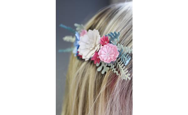 Paper craft floral headpiece