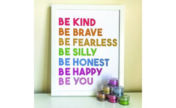 Rainbow Glitter Quote