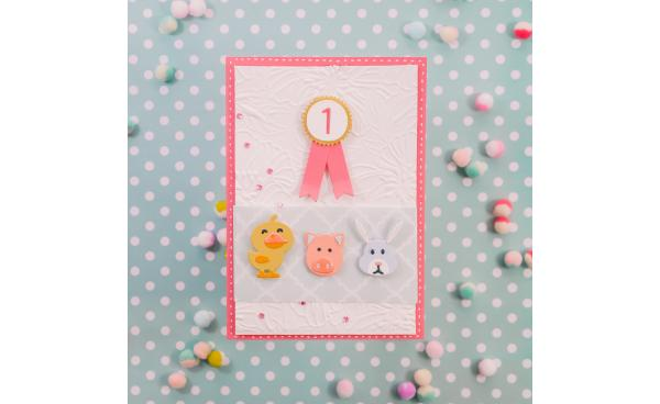 How to make a 1st birthday card (VIDEO)