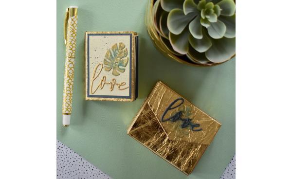 Eileen Hull Tiny Book Using Texture Rolls